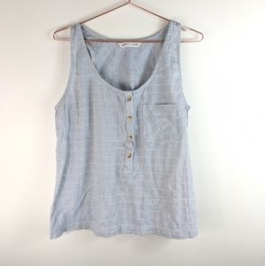 Woolrich- blue and white stripe tank top